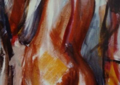 Achterste, 1986, 60 x 40 cm, olie doek (niet te koop)