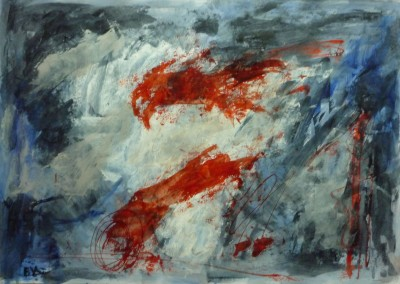 Altamira, 2013, acryl-pap., 70 x 100 cm, verk.