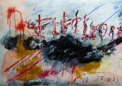 Anathema, 2014, acryl-pap., 70 x 100 cm