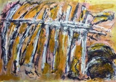 Archeologie, 2014, acryl-pap., 70 x 100 cm