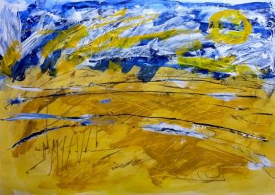 Arles, 2013, acryl-pap., 70 x  100 cm