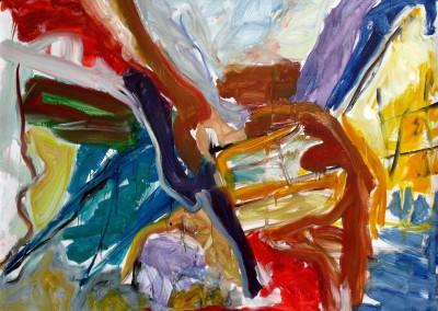 Au-dessus-de-Cousin, no. 40, 2009, acryl-doek, 145 x 190 cm