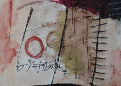 Ben Vollers, 2018, Het verjaarde geheim, 70 x 90 cm, acryl doek, 1195 euro