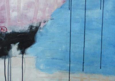 Ben Vollers, 2018, Waterkering, 80 x 60 cm, acryl doek, 999 euro