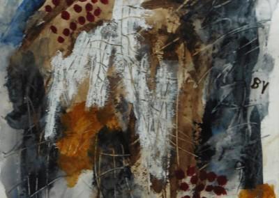 Bezwering, 2016, acryl-pap., 65 x 50 cm
