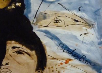 Bitches Brew, 1987, 65 x 50 cm, acryl inkt pap. (niet te koop)