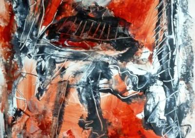 Bizonjacht, 2013, acryl-pap., 65 x 50 cm, verk.