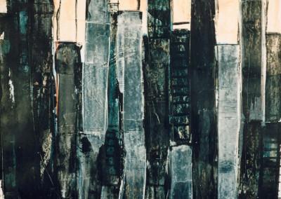Black forest, 25.10.97, acryl-pap., 100 x 70 cm