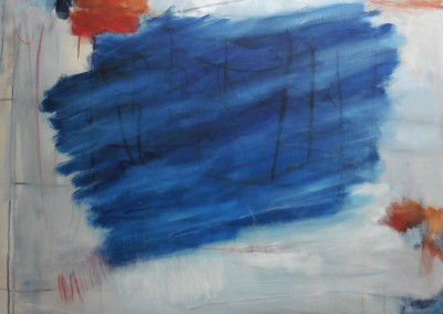 Blue, 13-7-06, olie-doek, 100 x 120 cm