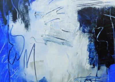 Blue Valentine, 2018, 50 x 50 cm, acryl doek