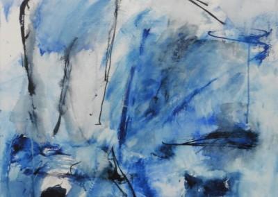Bluesakkoord, 2016, acryl-doek, 60 x 60 cm