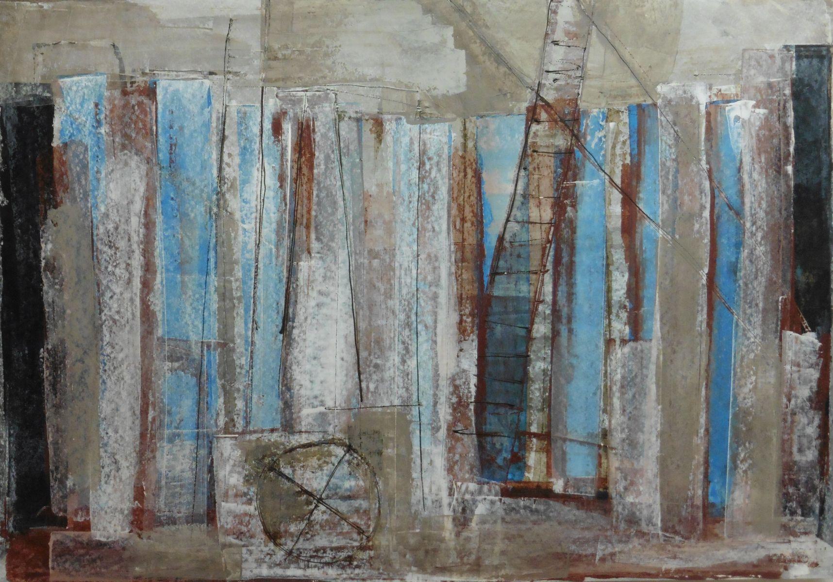 Abstract – acryl op papier – jaren 90