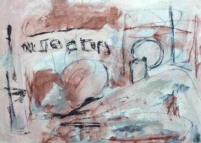 Coney Island, 2013, acryl-pap., 70 x 100 cm