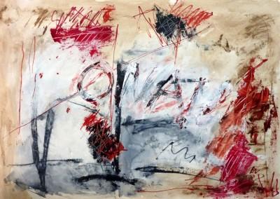 Crossroads, 2013, acryl-pap., 70 x 100 cm