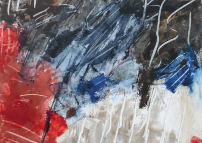 Dans van de Sjamaan, 2016, acryl-doek, 50 x 50 cm
