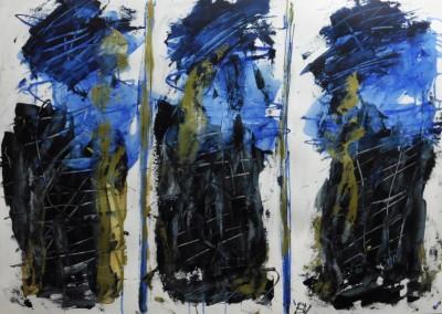 De Drie Gratiën, 2016, acryl-pap., 70 x 100 cm