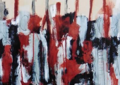 De Horde, 5-1-06, acryl-pap., 65 x 50 cm