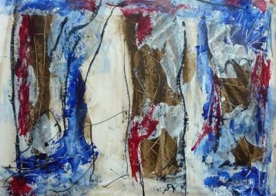 De drie Gratien, 2013, acryl-pap., 50 x 65 cm