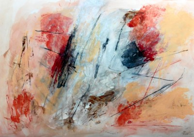 Desertstorm, 2015, acryl-pap., 70 x 100 cm