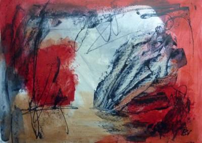 Dreaming, 2013, acryl-pap., 50 x 65 cm