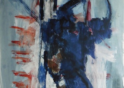 Euridice, 2008, acryl-pap., 100 x 70 cm