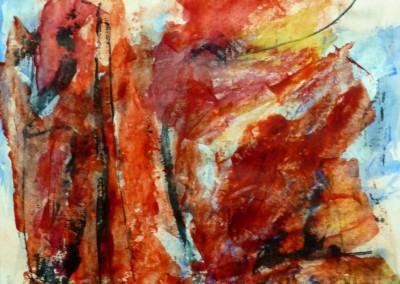 Faja Lobbi, 2014, acryl-pap., 65 x 50 cm