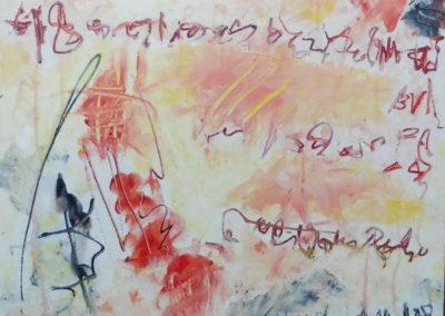 Familiediner, 2018, 50 x 50 cm, acryl doek