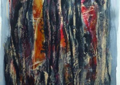 Fire-wood, 2013, acryl-pap., 65 x 50cm