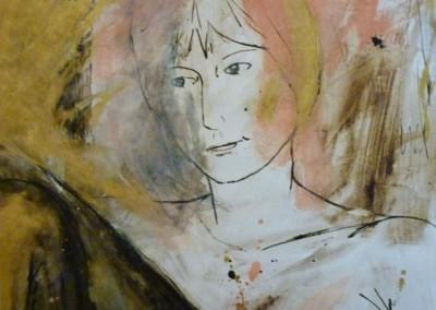 Fontessa, 1987, 65 x 50 cm, acryl inkt pap. (niet te koop)