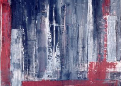 Foreign City, 23.2.98, olie-paneel, 100 x 70 cm