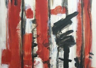 Haiku, 30-5- 07,  acryl-pap., 100 x 70 cm