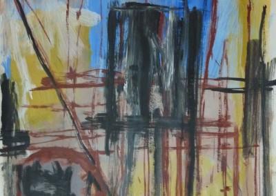 Haven, 25-3-99, acryl-pap., 65 x 50 cm