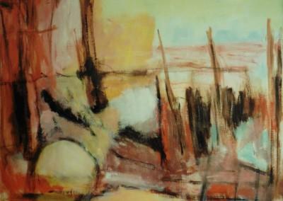 Haven, 8-99, olie -doek, 80 x 100 cm