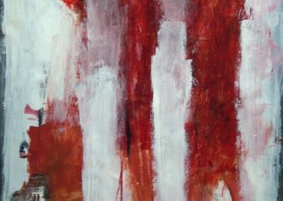 Het Offer 2, 14-11-05, acryl-pap.,  65 x 50 cm
