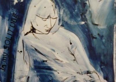 In my solitude, 1985, 65 x 50 cm, acryl inkt pap. (verkocht)