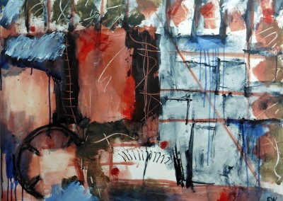 Lyrisch abstract – acryl op doek – 2015