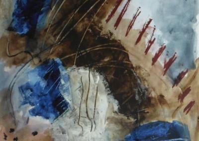 Initiatie, 2016, acryl-pap., 65 x 50 cm