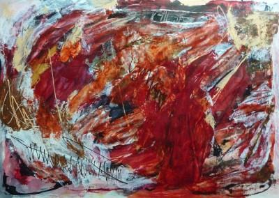 Inner World,  2013, acryl-pap., 70 x 100 cm