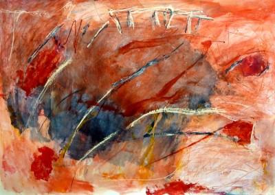 Inside job, 2014, acryl-pap., 70 x 100 cm