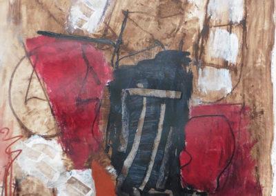 Kerkers, 2019, 65 x 50 cm, acryl papier