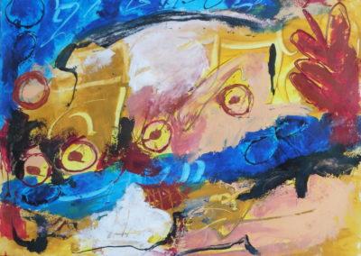 Lokvogel, 2018, 56 x 71.5 cm, acryl papier