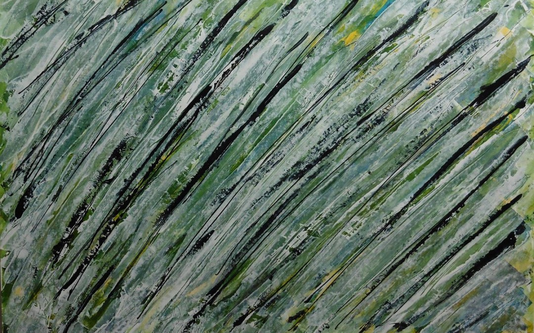 Lyrisch abstract – acryl op papier – 2016
