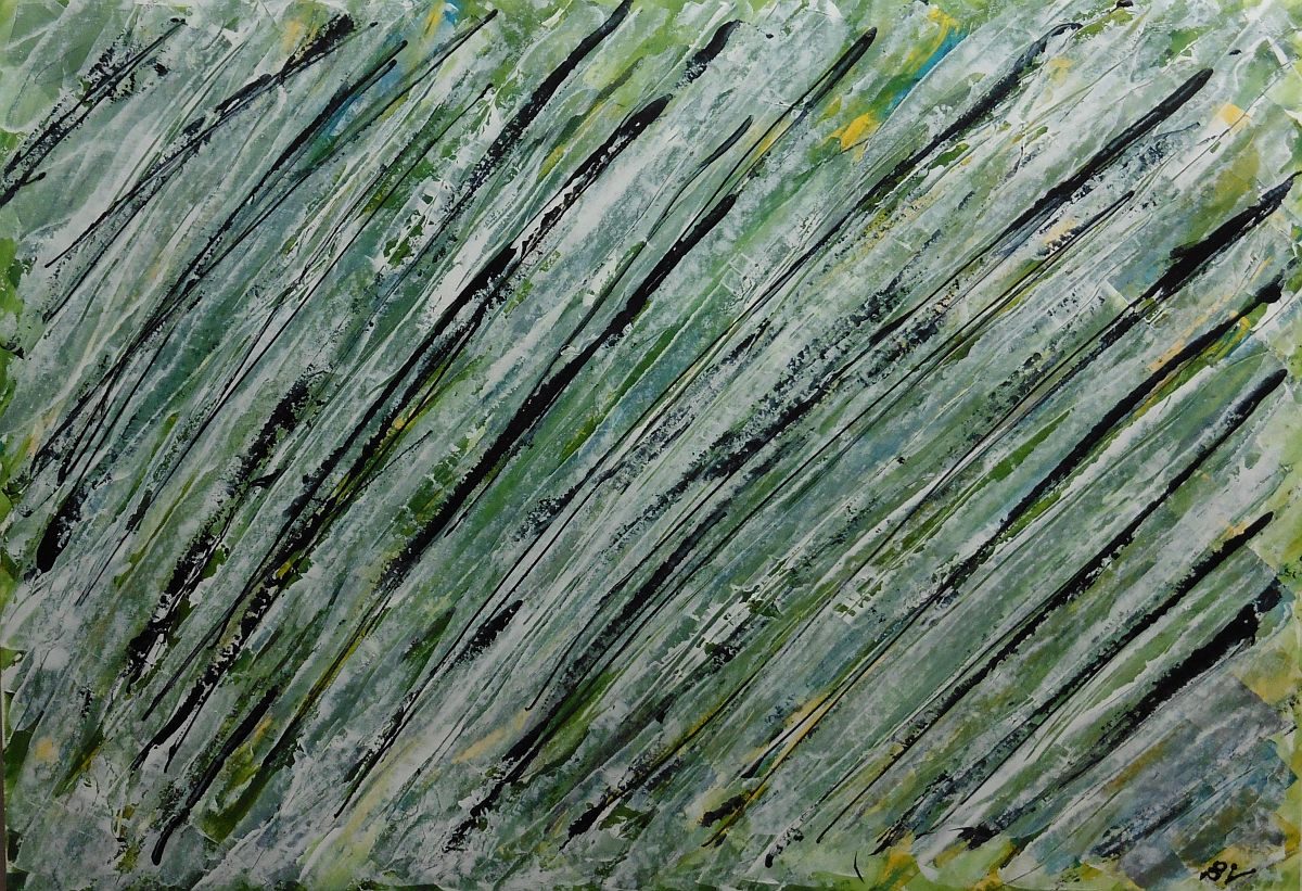 Lyrisch abstract – acryl op papier – 2016