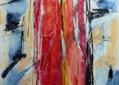 Metamorfose, 2016, acryl-doek, 90 x 70 cm