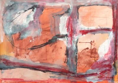 Moukden, 2012, 70 x 100, acryl-pap.
