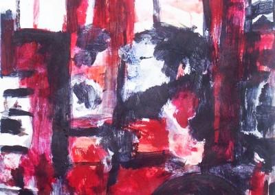 Orakel 2, 13-7-06, acryl-pap., 100 x 70 cm