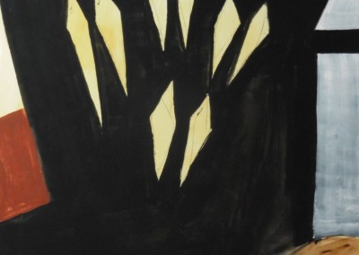 Oresteia 3,  14-5-1992, acryl-pap., 100 x 70 cm