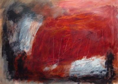 Orfeu Negro,  2013, acryl-pap., 70 x100 cm