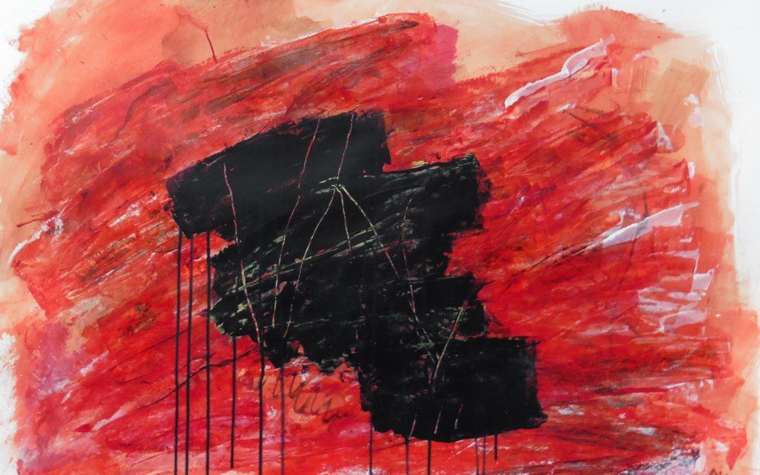 Lyrisch abstract – acryl op papier – 2017