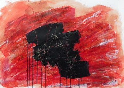 Papaverstory, 2017, 100 x 70 cm, acryl papier